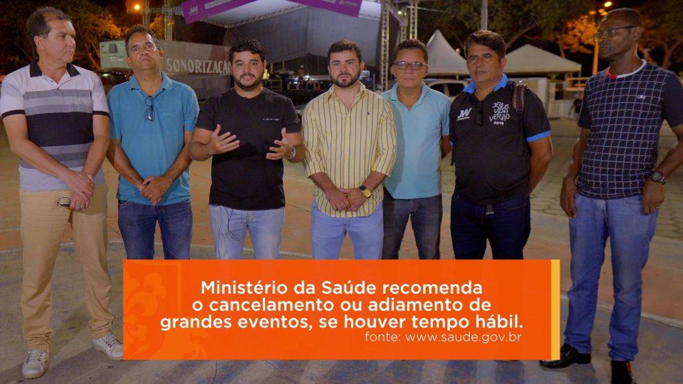 Prefeito Rodrigo Hagge e comissão organizadora do Jesus Vida Verão, decidem adiar o evento por conta da pandemia de Covid-19